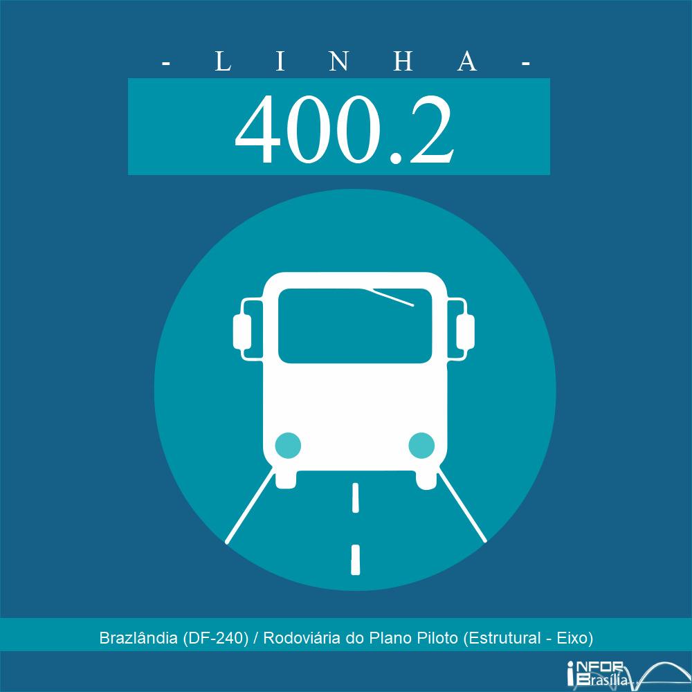 Horário de ônibus e itinerário 400.2 - Brazlândia (DF-240) / Rodoviária do Plano Piloto (Estrutural - Eixo)