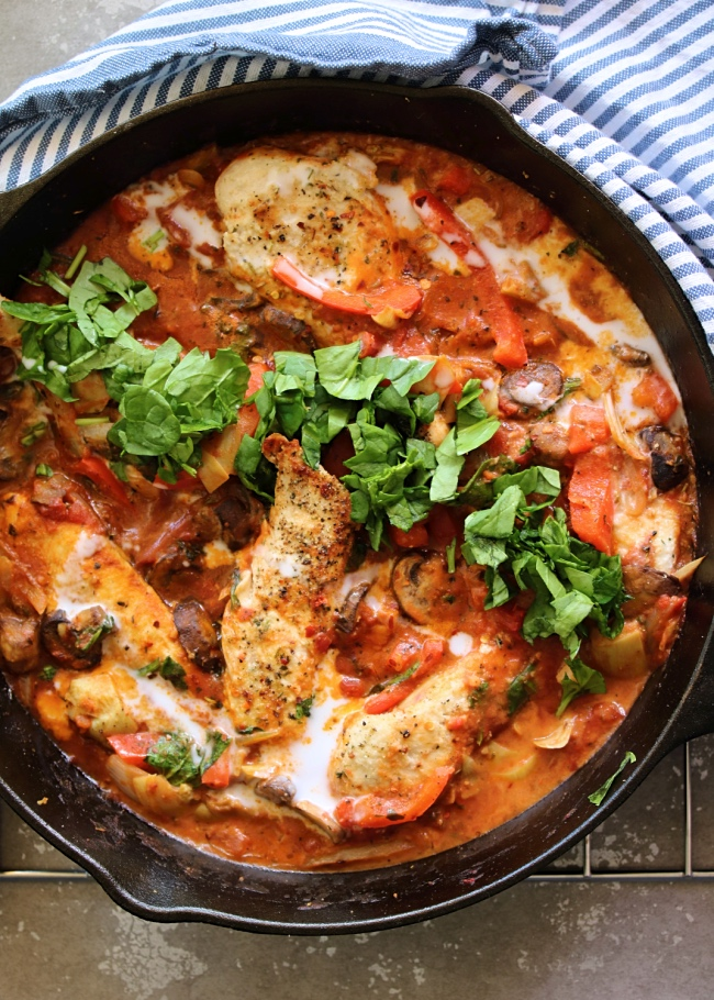 Just jessie b creamy chicken cacciatore skillet paleo whole30 creamy chicken cacciatore skillet paleo whole30 forumfinder Images