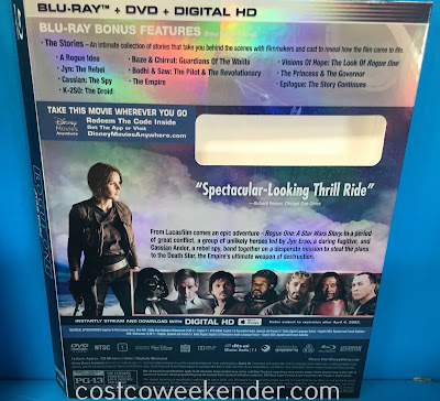 Costco 1136256 - Rogue One: A Star Wars Story Blu-ray and DVD - This IS the movie you're looking for