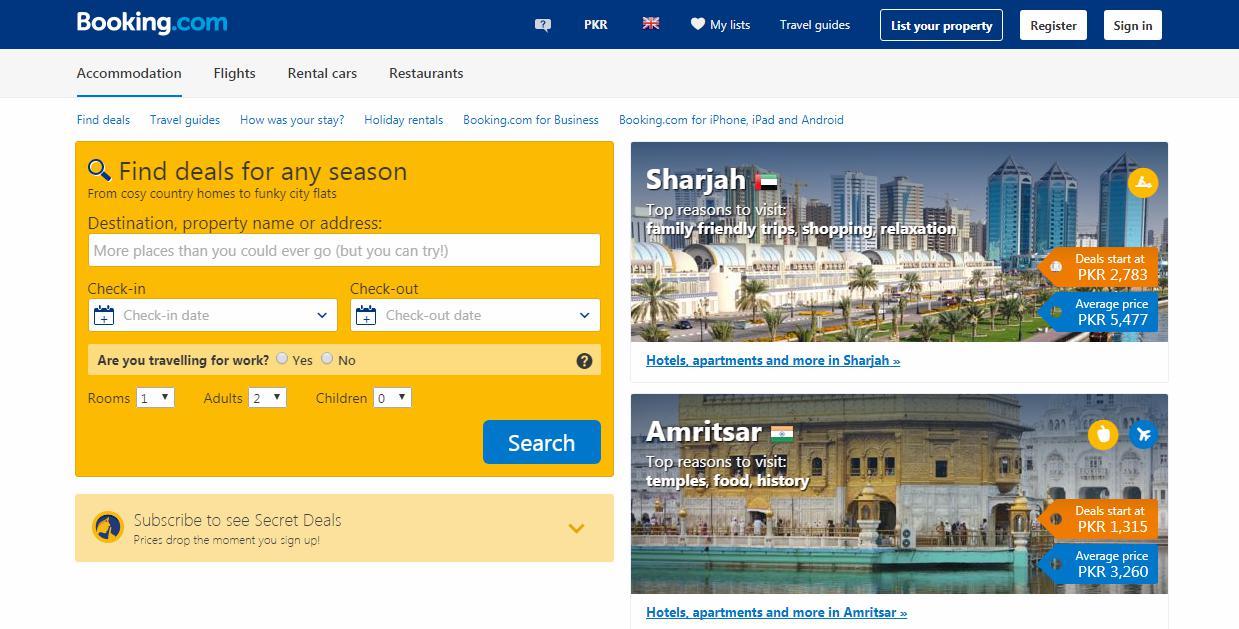 Cheap Hotel Finder App