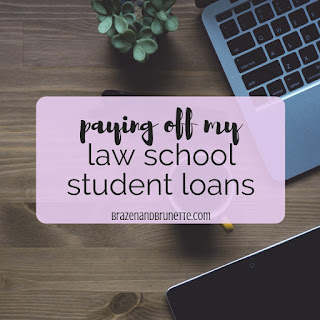 How to pay off your law school loans. How to get out of law school debt. How to minimize your law school loans. How to get a law school loan. Private vs public law school loan. How much debt to expect after law school. How much does law school really cost. Law school debt repayment plan. How to reduce law school loans interest rates. How to refinance your law school loans. Should you refinance your law school loans. Law school debt help for free. Law school grad debt for 2019. How to pay off your law school loans fast. Law school loan refinance. How to budget for law school. Save on law school loans by working during law school. How much does your 1L year of law school cost. How to find law school scholarships. law school blog. law student blogger. law school tips. law school advice | brazenandbrunette.com