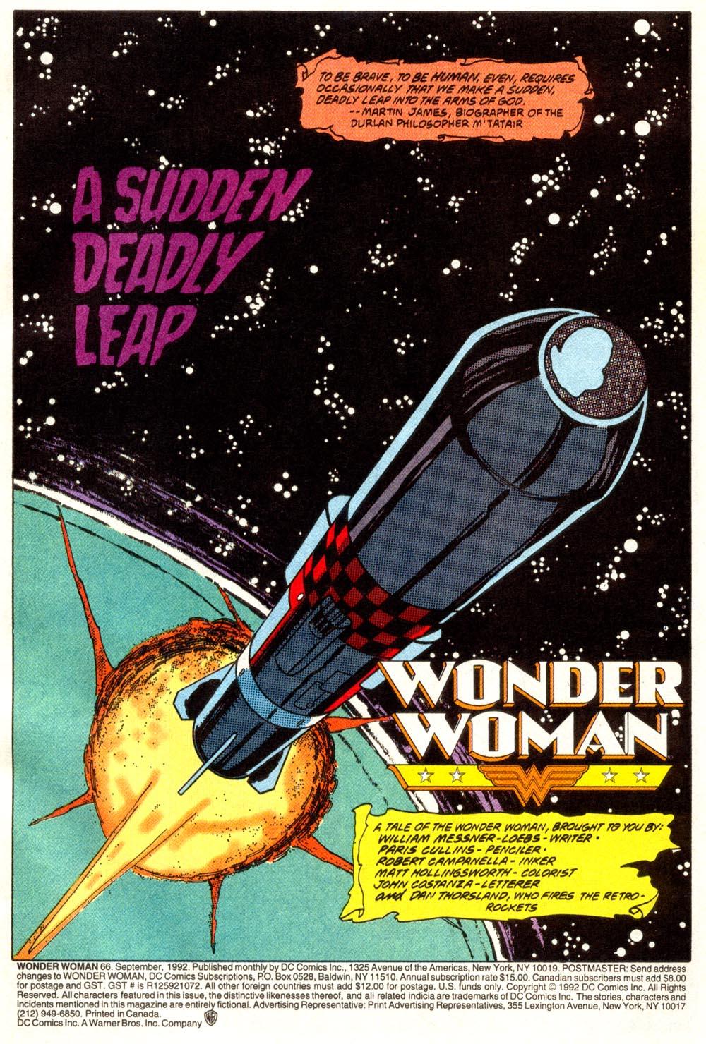 Read online Wonder Woman (1987) comic -  Issue #66 - 2