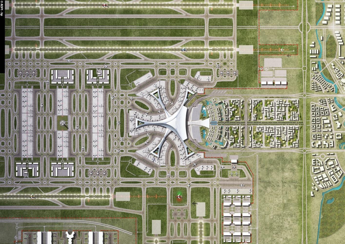 beijing new airport terminal building daxing china zaha hadid. Black Bedroom Furniture Sets. Home Design Ideas