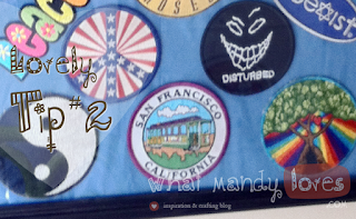 Lovely Tip #2: Display Your Old Patches via www.whatmandyloves.com