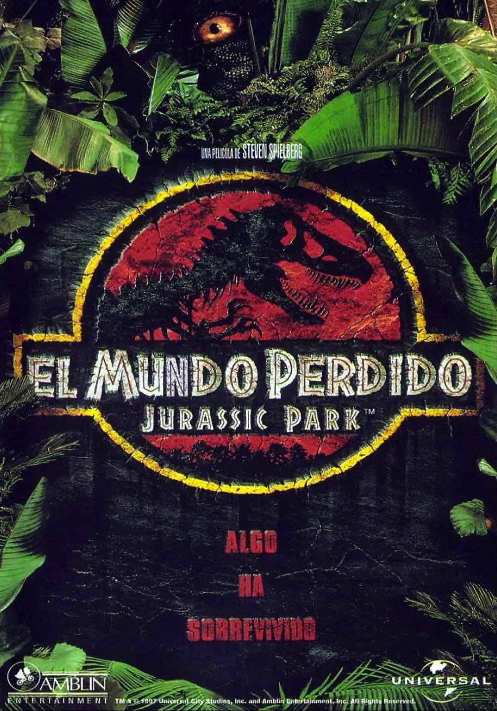 El mundo perdido Jurassic Park poster box cover