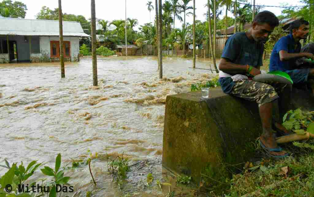 Flood at Golaghat, Moinapara