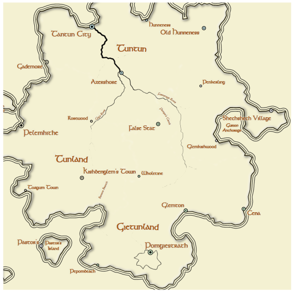 Here Dragons Abound: Lord of the Rings Map Style