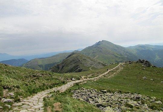Szlak na Chopok. Widok na wschód.