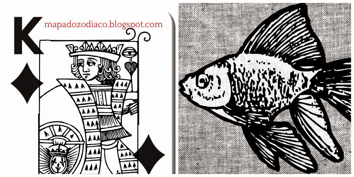 significado carta cigana lenormand peixe rei de ouros