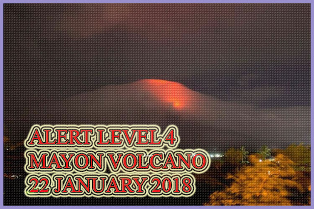 ANNOUNCEMENT: Notice for the raising of Mayon Volcano's status from Alert Level 3 (increased tendency to hazardous eruption) to Alert Level 4 (hazardous eruption imminent).