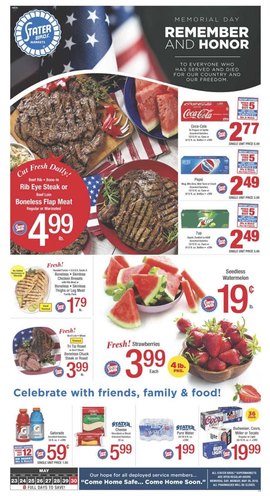 Stater Bros Weekly Ad May 23 30 2018 I Heart Coupon Deals