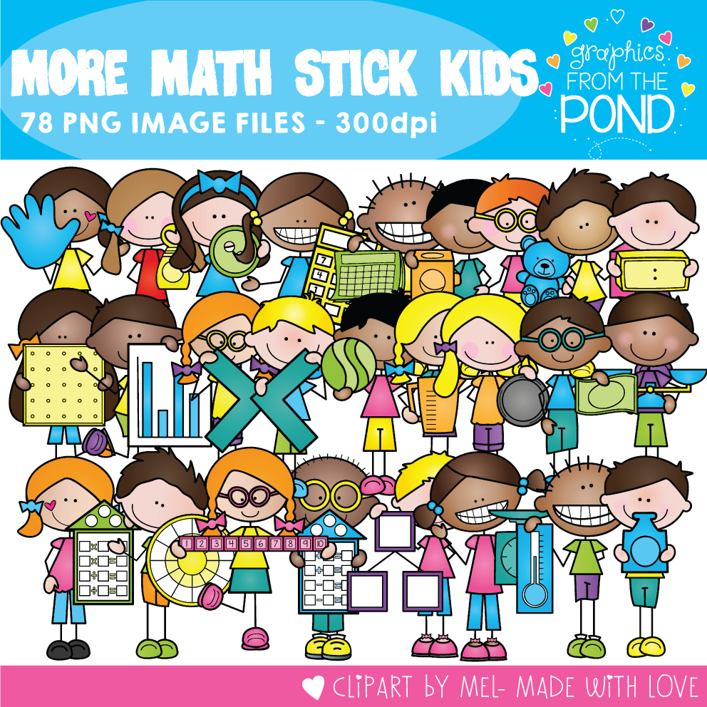 More Math Stick Kids | Graphics From the Pond
