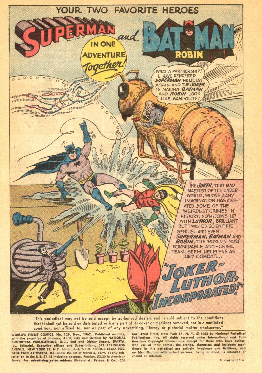 Read online World's Finest Comics comic -  Issue #129 - 3