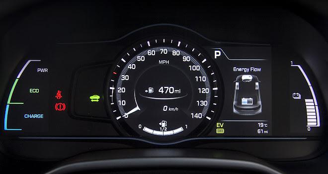 Hyundai Ioniq Hybrid instrument panel