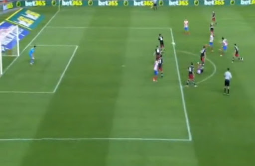 Atlético Madrid midfielder Tiago shoots from long range to score against Athletic Bilbao