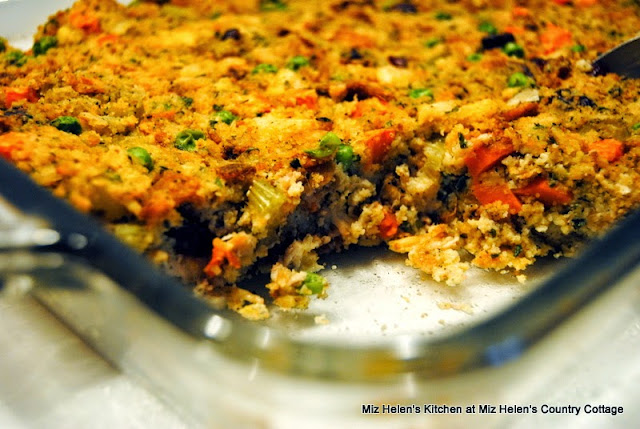 Cornbread Dressing Casserole at Miz Helen's Country Cottage