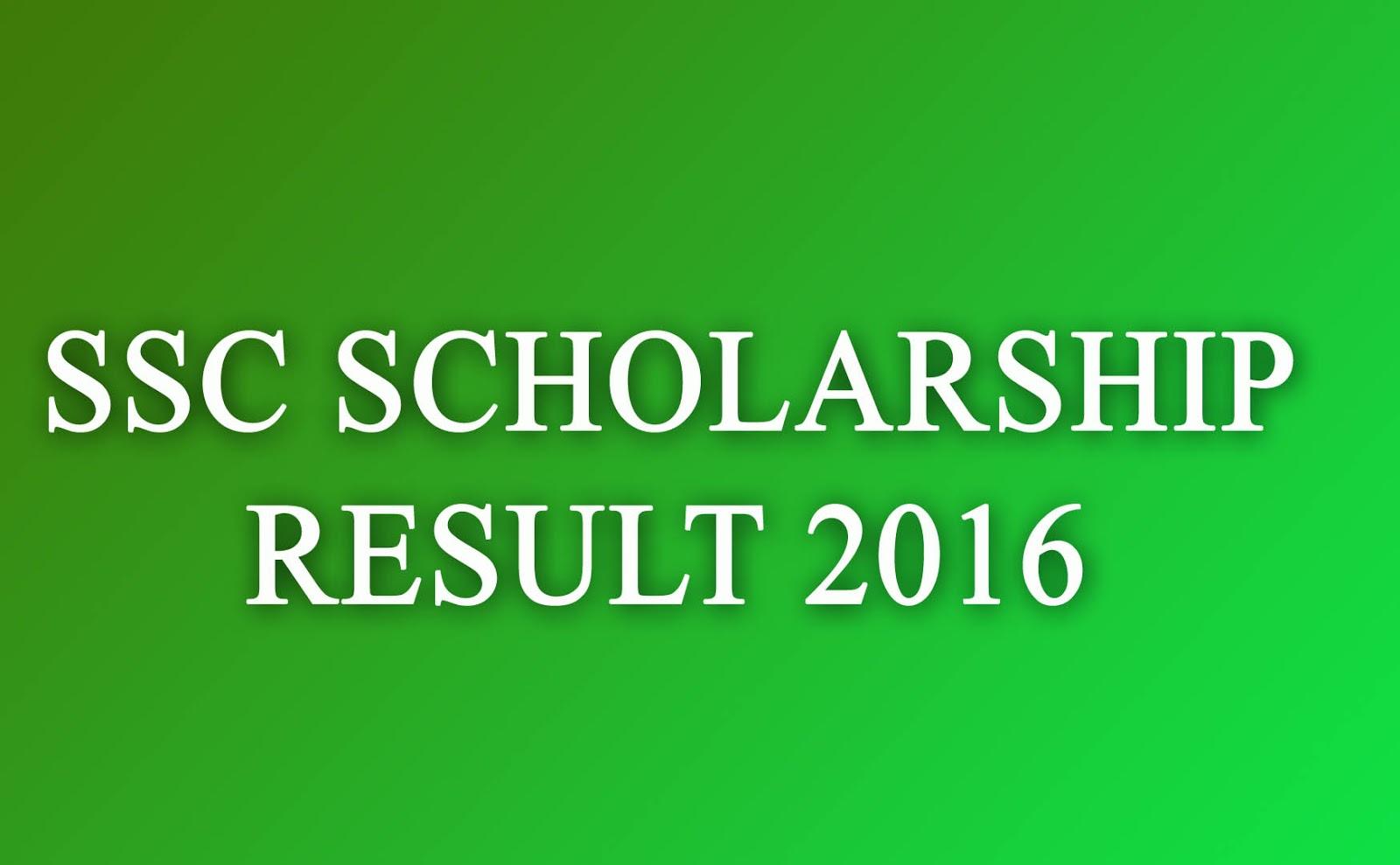 ssc scholarship result 2016 all education board latest bangladeshi