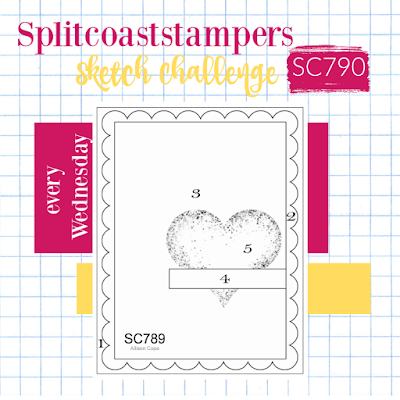 Splitcoaststampers Card Sketch 790