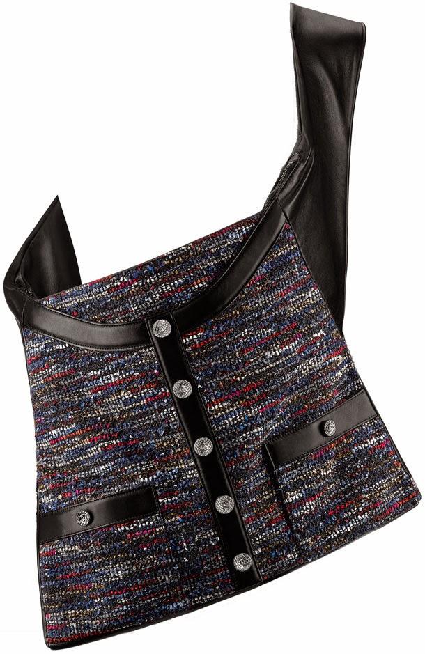 9fdaa9e37a5b Chanel A90685 Tweed And Lambskin Girl Chanel Bag