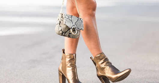 How to Style Metallic Booties for Fall
