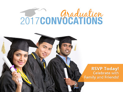 "photo of graduated with text overlay: ""2017 Graduation Convocations"""