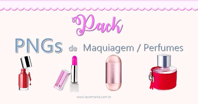 Pack pngs maquiagem perfumes