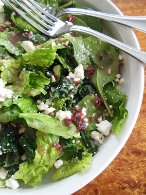 Tangy Cranberry and Thyme Vinaigrette.