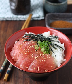 tuna sashimi rice bowl recipe
