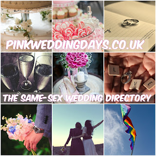 Collage of wedding images and LGBT couples.