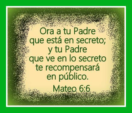 Orar al Padre en secreto