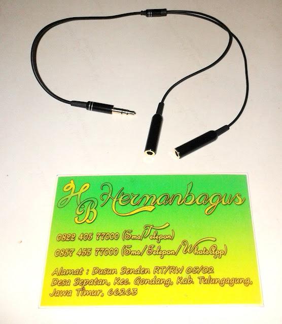 Kabel Aux 3.5 mm Male Ke 3.5 mm Female Jack Hermanbagus Shop