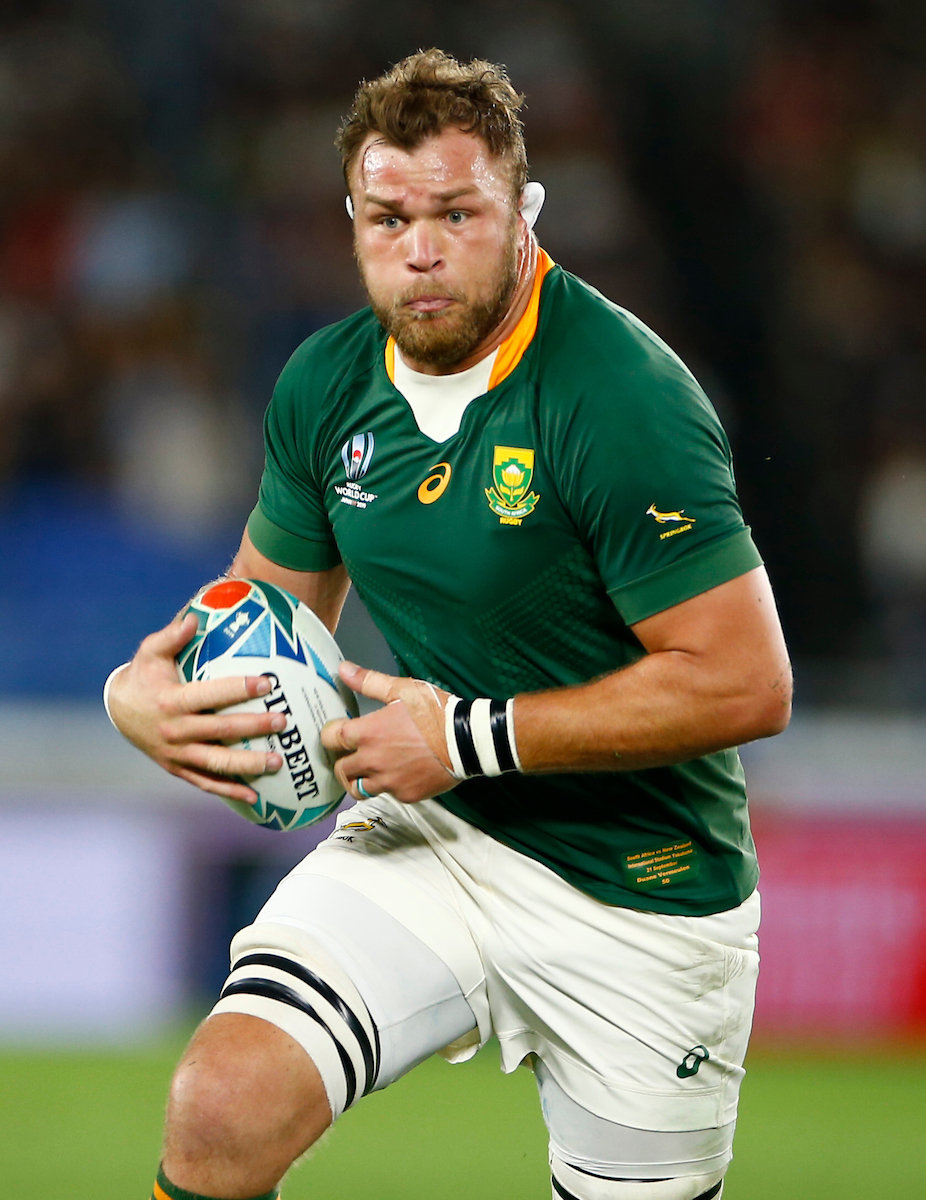 Duane Vermeulen of South Africa during the Rugby World Cup Pool B match between New Zealand and South African at the International Stadium Yokohama,Yokohama City September 21 2019