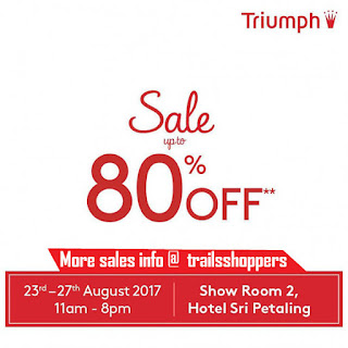 up to 80% off Triumph Sale 2017