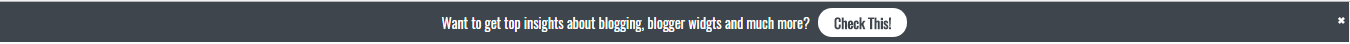 Blogger notification bar widget