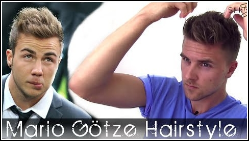 Mario Götze and David villa inspired hair for men, with Hairbond Distorter