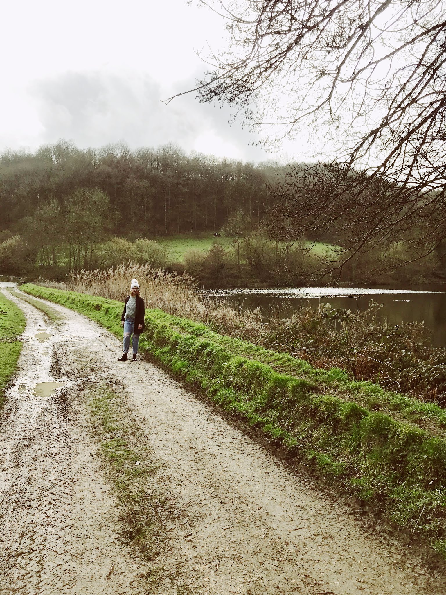 Blogger Chloe Harriets out of a winter walk