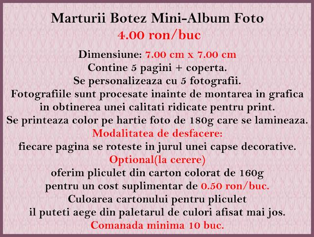 marturii botez minialbum baieti