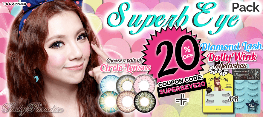 Complete your look with circle lenses & eyelashes