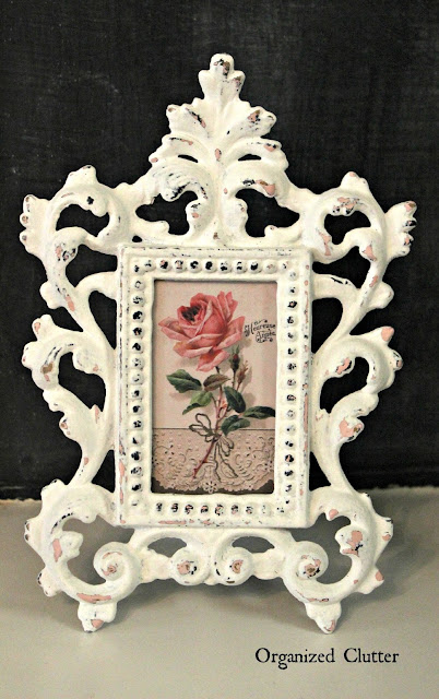 Shabby French Iron Thrift Shop Frame Makeover