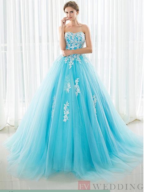 Beautiful dresses by EV Wedding Australia | Miss Baby Blue