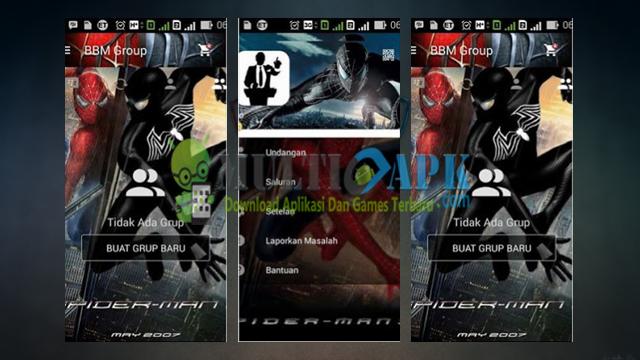 BBM Mod Spiderman 3 Terbaru Versi 2.13.1.14 Apk