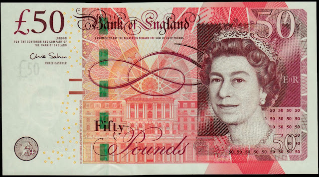 Bank of England Bank Notes‎‎ 50 Pound Sterling note 2011 Queen Elizabeth II