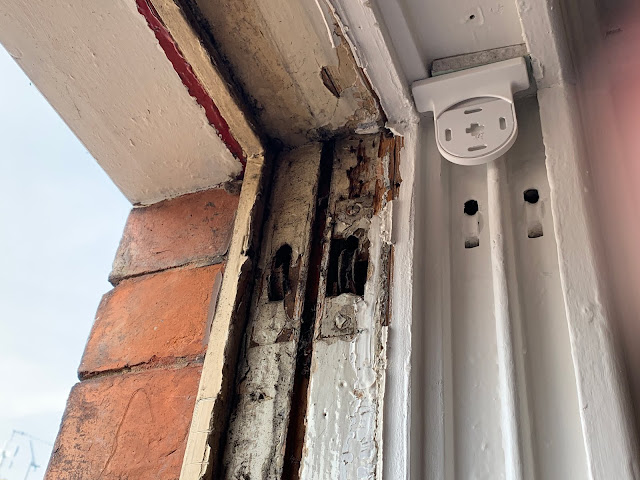 Old Sash Window Frame with Pulley
