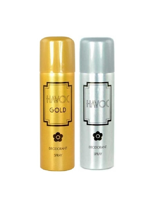 Pack Of 2 - Havoc Gold And Silver Body Spray 200 ml