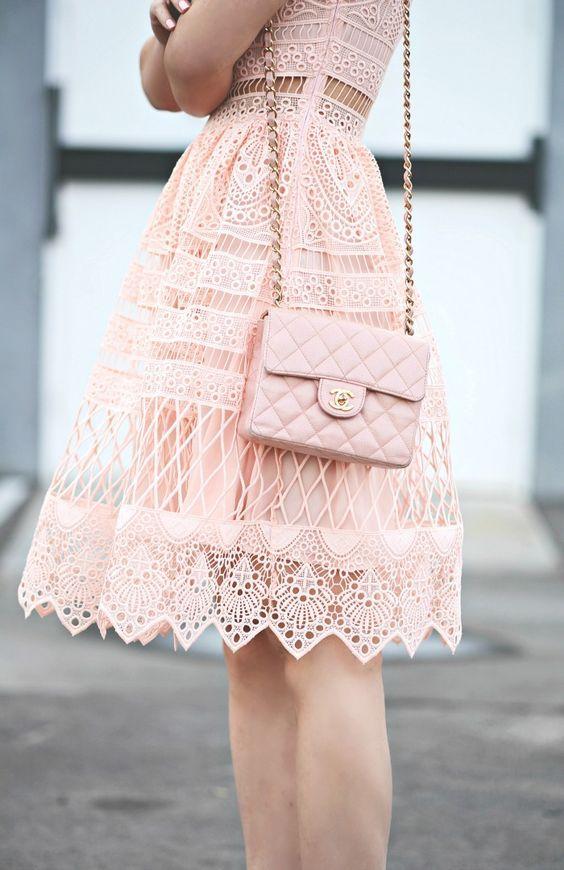 Vestido rosa para comunion invitada