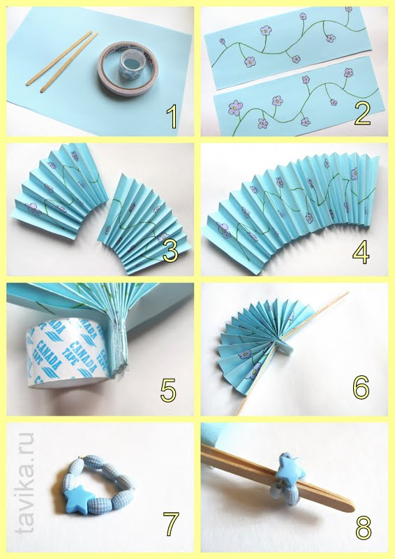 Как сделать японский веер из бумаги. Мастер-класс