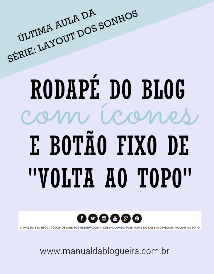 rodapé do blog