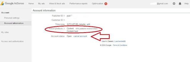 lihat Empat Ciri Khas Akun Non Hosted Google AdSense