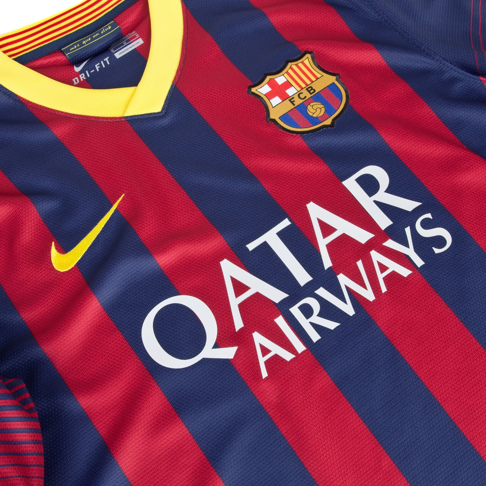 4c783caf7fb The Barcelona Home Kit features four red stripes and five blue stripes on  the front as well as stripes on the sleeve cuffs creating a transition  effect.