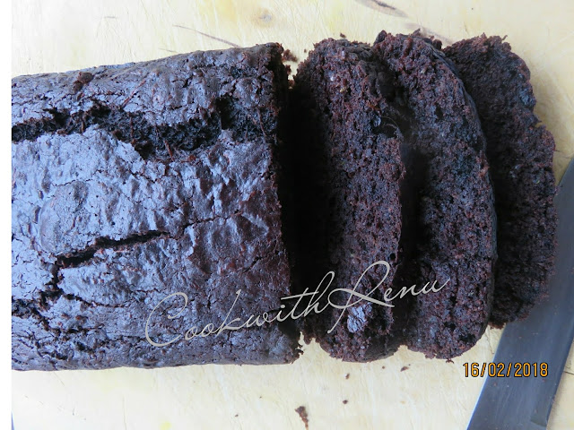 Zucchini chocolate Wholewheat Cake/Bread